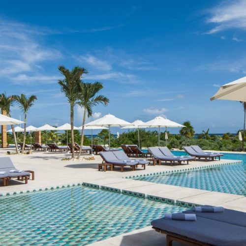 Chable Maroma Mexico swimming pool view