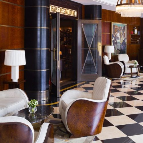 The Beaumont Hotel lobby