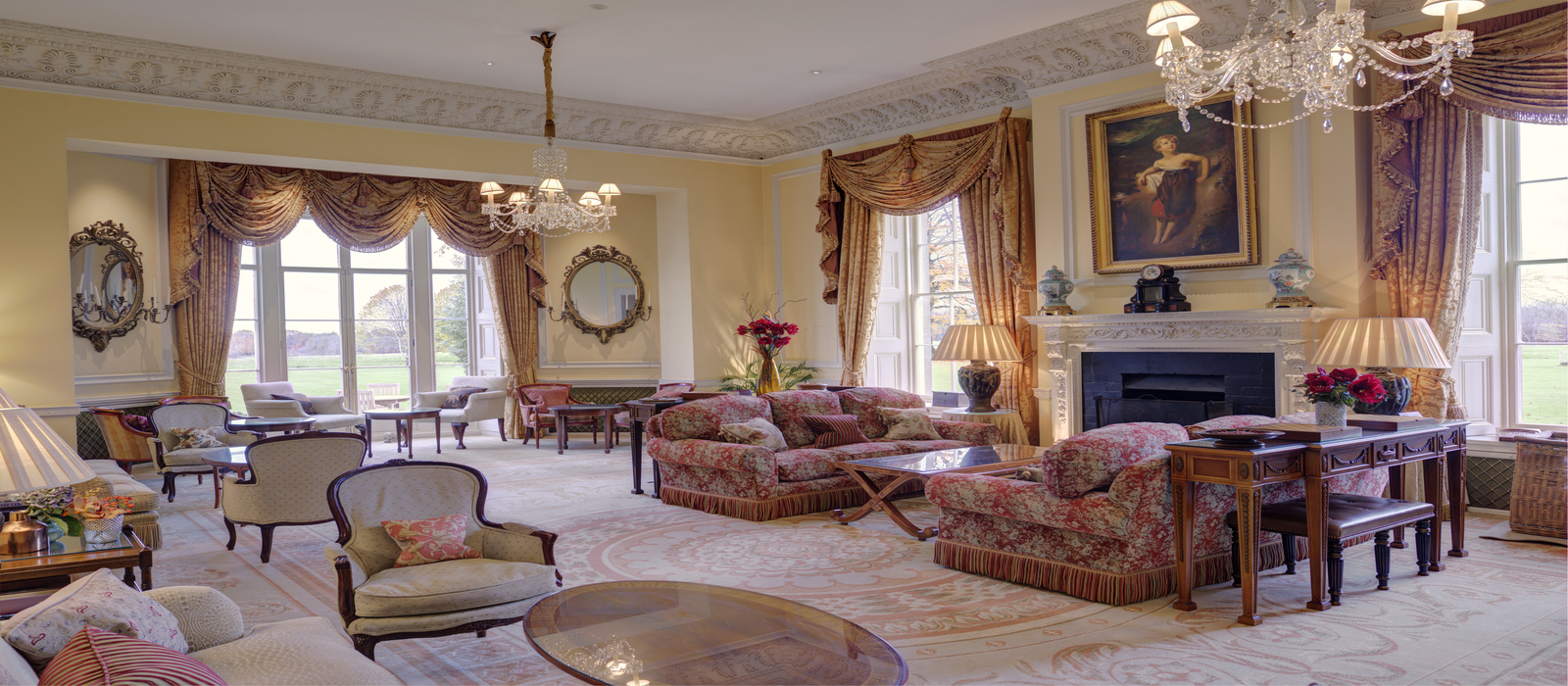 Lucknam Park Drawing Room