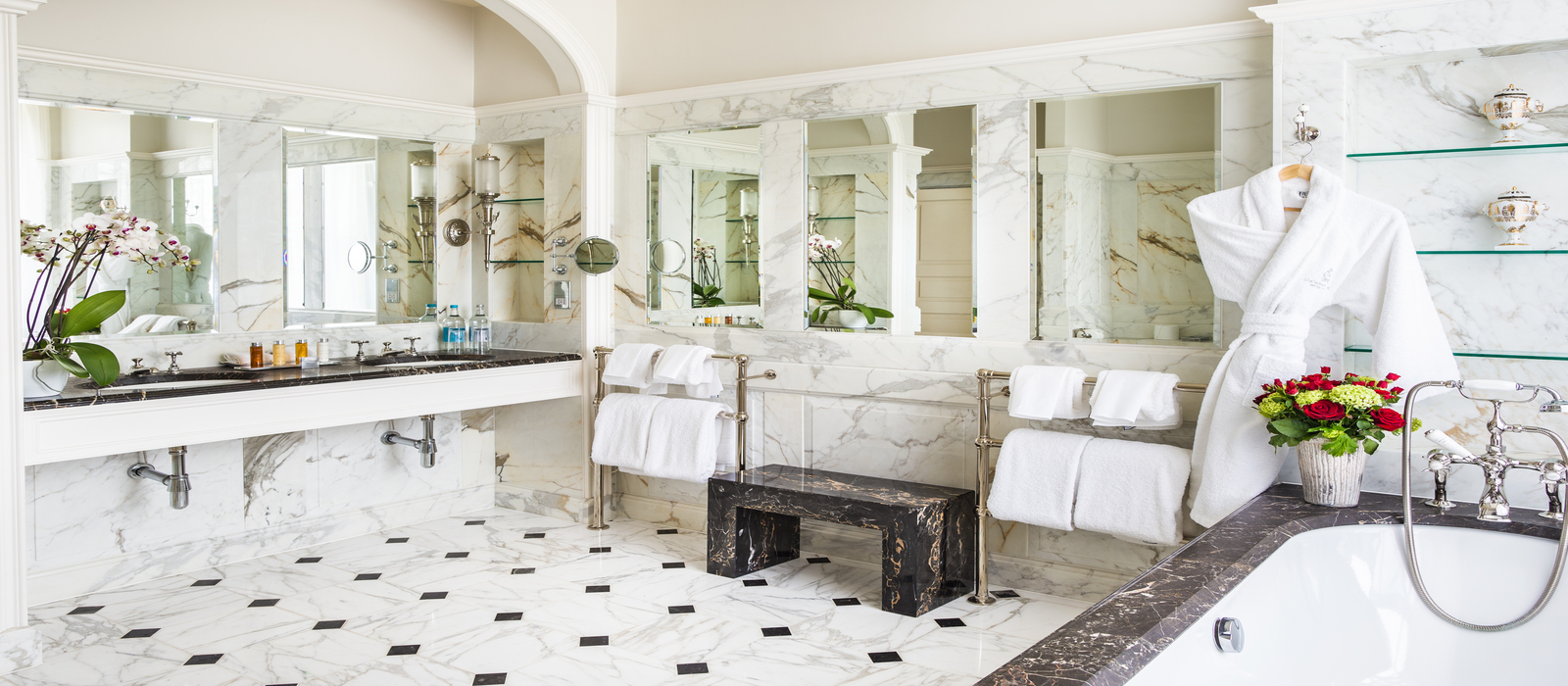 Lucknam Park Master Bathroom